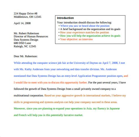 career fair cover letter cover letter for fair