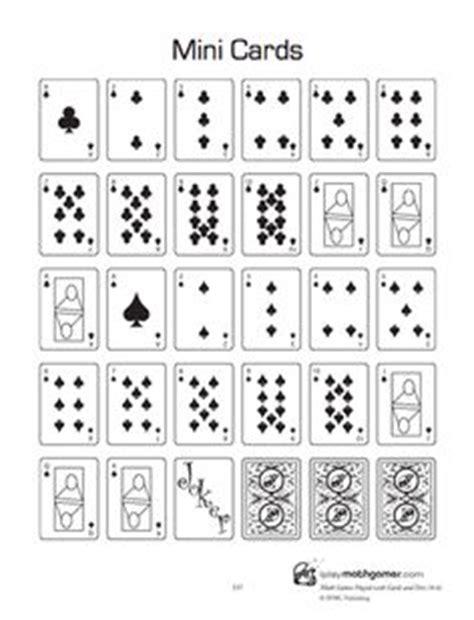 printable dice set need playing cards print and laminate a mini set
