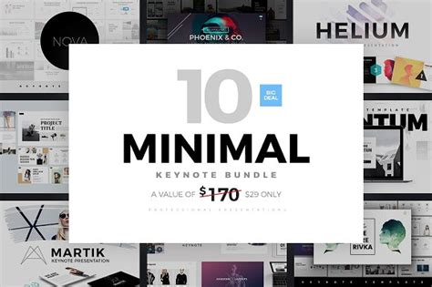 Minimal Keynote Bundle Template Presentation Templates Creative Market Free Minimal Keynote Template