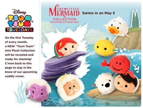 Tsum Tsum Max Serial Mermaid The Mermaid Tsum Tsums Released Today Disney Tsum