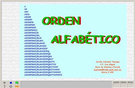el orden alfabtico 8420473758 orden alfab 233 tico recurso educativo 38582 tiching