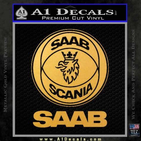 saab scania logo decal sticker 187 a1 decals