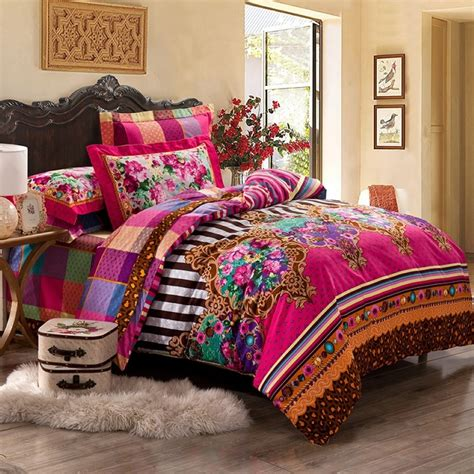 patterned bed sheets tribal pattern bedding to experience lovely nuance inside bedroom homesfeed