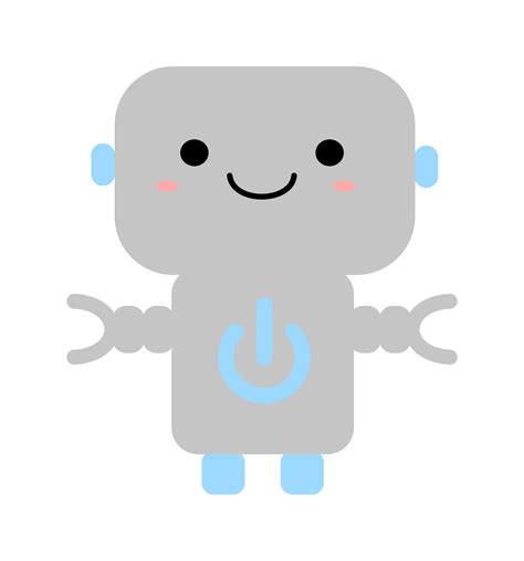 kawaii clipart clipart kawaii robot with power symbol