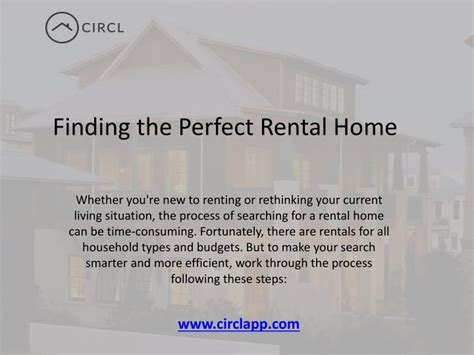 find my perfect home ppt finding the perfect rental home in toronto