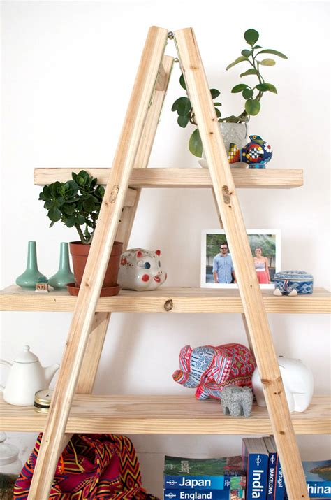 How To Build Ladder Shelf by Diy Ladder Shelves 171 A Pair A Spare