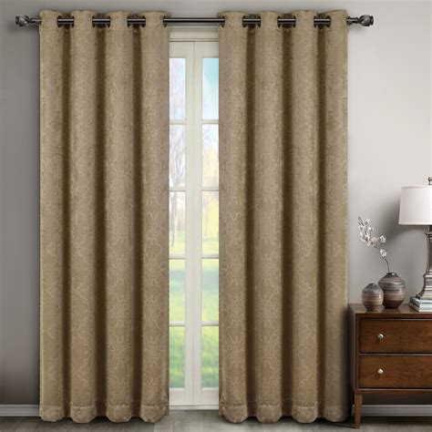 blackout curtain set bella blackout weave window curtain panels pair set of 2