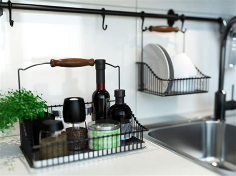ikea hanging kitchen storage amazon com ikea wire baskets w bottom tray hang or free