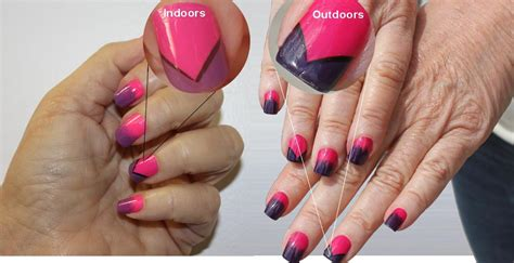 chagne pink color color change nail