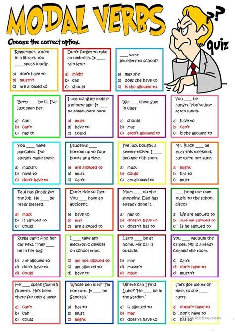 modal verbs quiz worksheet free esl printable