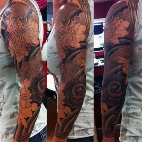 flower sleeve tattoos for men 50 flower tattoos for a bloom of manly design ideas