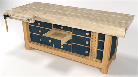 shaker bench plans a shaker style workbench gallery sketchup community