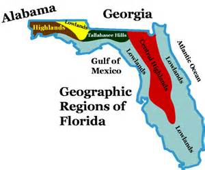 florida landform map florida landforms and regions lessons tes teach