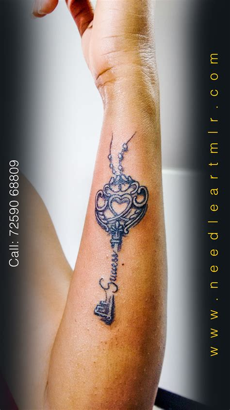 success tattoo success key design needleart mangalore
