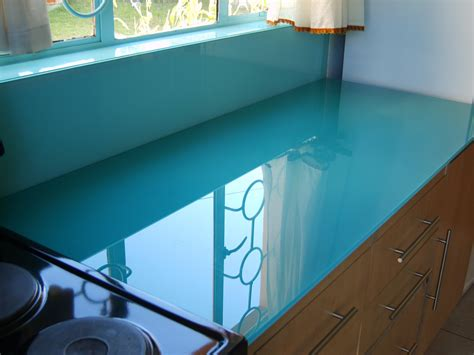 glass kitchen worktops from modern glass