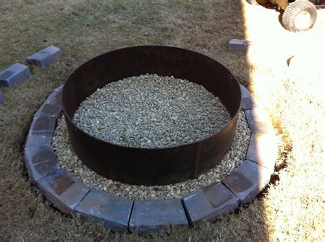Firepit Ring 30 In Galvanized Pit Ring Pit Design Ideas