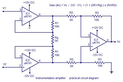 integrated circuit instrumentation lifier instrumentation lifier using op circuit diagram working construction
