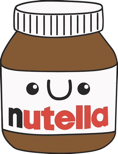 imagenes kawaii de nutella quot kawaii nutella quot stickers by denisn redbubble