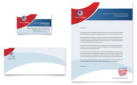 business card letterhead templates free election business card letterhead template design