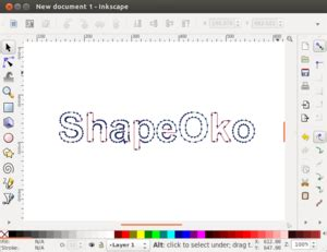Drawing G Code Program by Inkscape Shapeoko