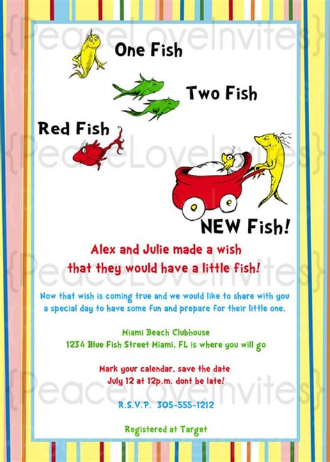 Dr Seuss Baby Shower Invitations by Dr Seuss Baby Shower Invitation Baby Shower