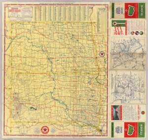 rand mcnally map of texas road map n s dakota rand mcnally and company texas company 1937