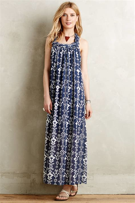Maxi Dress Motif Dress Motif Dress Corak greylin arvan maxi dress in blue blue motif lyst