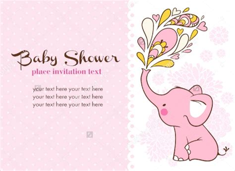 sample baby shower invitations word psd ai eps