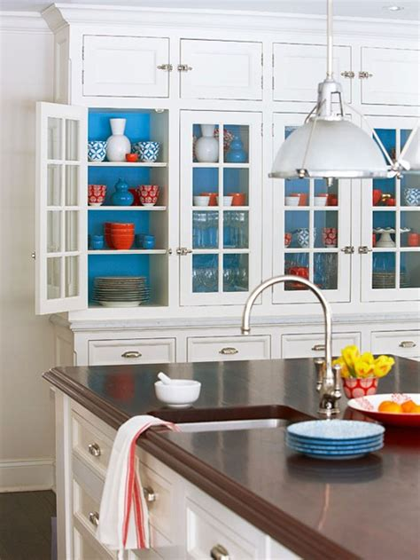 should i paint the inside of my kitchen cabinets bhg centsational style