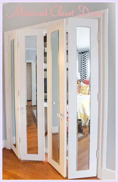 closet doors bifold bedrooms mirrored closet doors on pinterest closet door