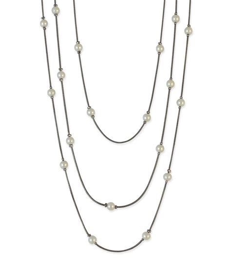 Pearl White Color Necklace pearl beaded white color necklace buy pearl beaded white color necklace in