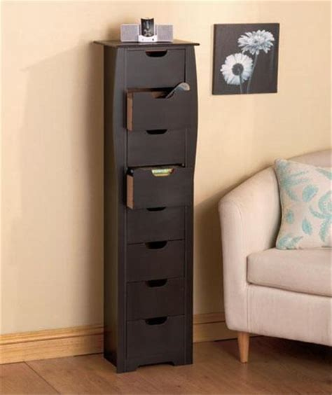 Slim Entryway Storage | 8 drawer wooden bathroom bedroom entryway slim space