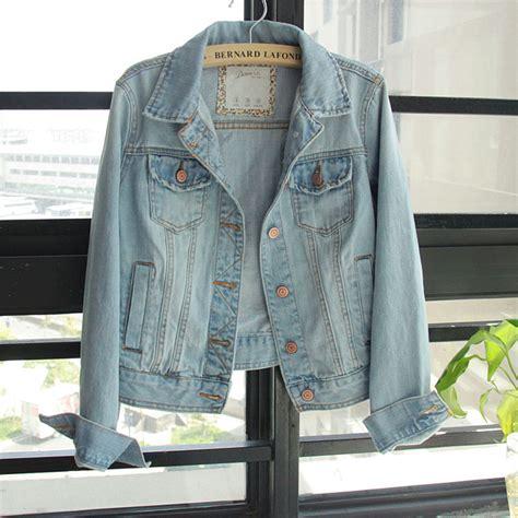 light blue jean jacket womens free ship fashion casual sleeve