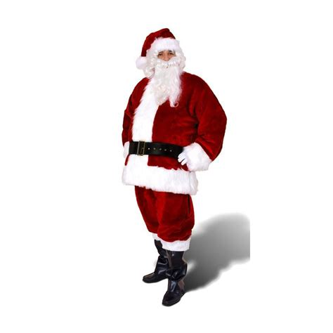 shop xxl maroon polyester santa claus suit at lowes com
