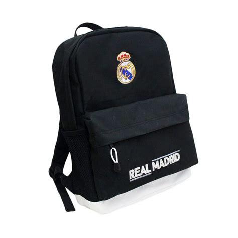 Tas Ransel Futsal Real Madrid jual tas klub bola real madrid fitur slot laptop biru tas ransel harga kualitas