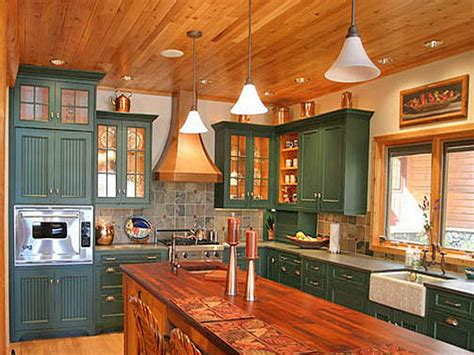 Kitchen Cabinets Painted Green Kitchen Green Painted Kitchen Cabinets Wood Material