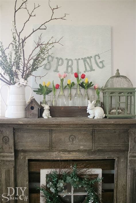 mantel decor decorating your mantelpiece for spring