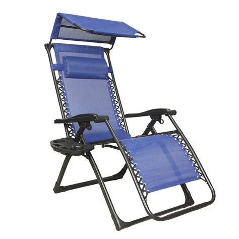 gravity chair lounge patio chairs outdoor  canopy cup holder rf ebay
