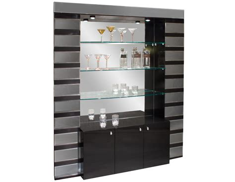 Office Wall Dividers mera black lacquer mirrored bar corner