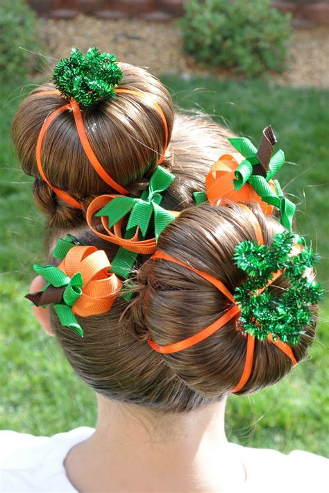 halloween hairstyles for school princess piggies halloween hairdos pumpkin patch