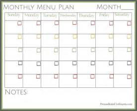free monthly meal planner template 1000 ideas about monthly menu on meal