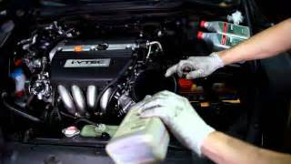 how to change your engine and filter in a 2003 honda