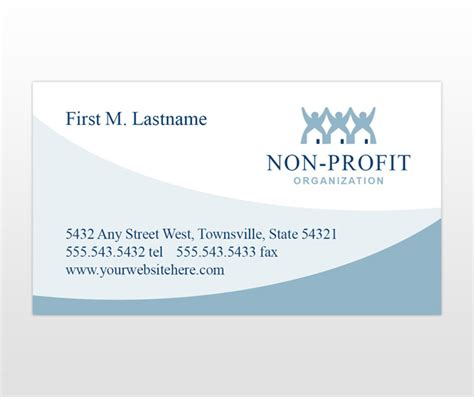 non profit business cards templates the one page business plan for non profit organizations