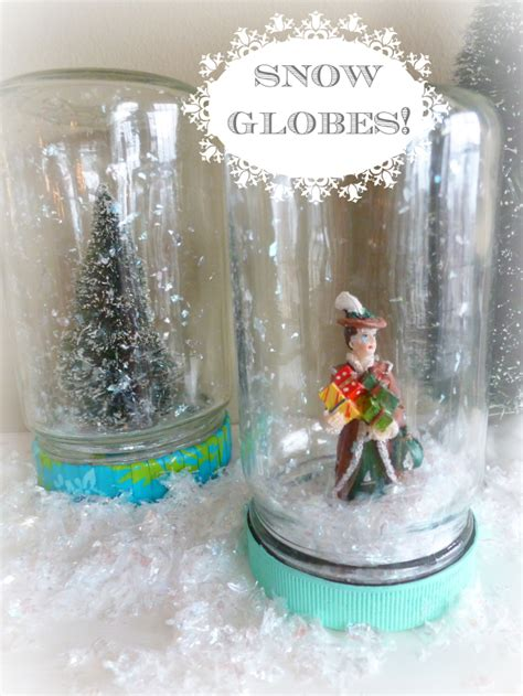 Handmade Snow Globes - how to make a snow globe design improvised