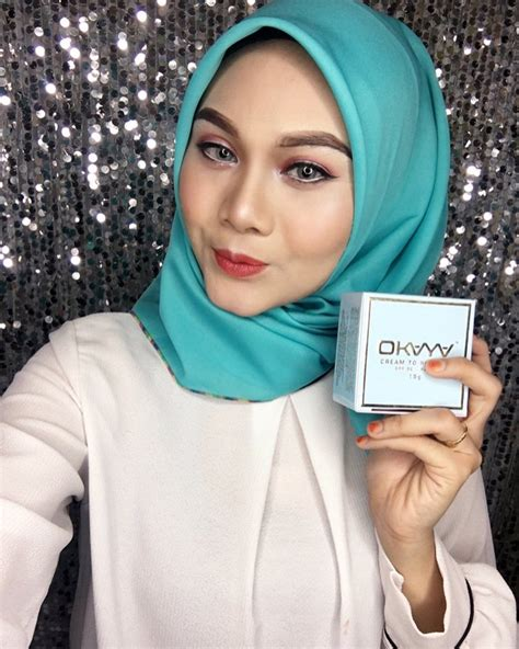 Bedak Okaya okaya foundation to powder 2in1 cantik belaka
