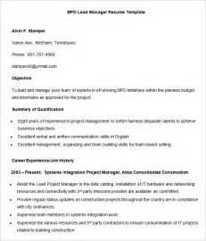 Experience Letter Of Bpo Bpo Resume Templates 35 Free Sles Exles Format Free Premium Templates