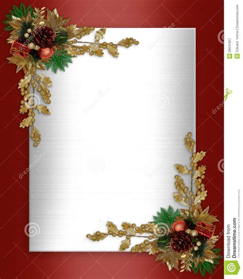 card frames templates pine boughs border stock illustration image of