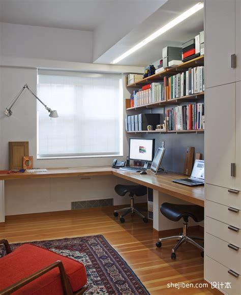 Home Office Layout Window 简约书房布置效果图 土巴兔装修效果图