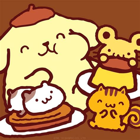 Pom Pom Purin Pancake 128 best images about pom pom purin 布甸狗 on sanrio wallpaper plush and bento