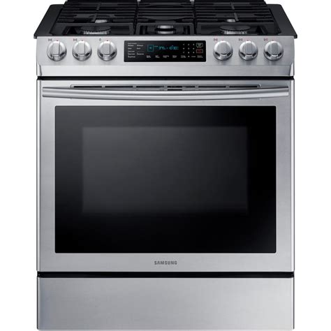Oven Gas Stainless Steel samsung 30 in 5 8 cu ft single oven gas slide in range